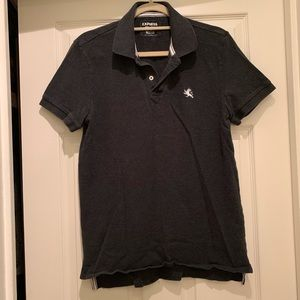 Express gray polo